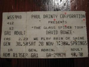 David Bowie - 28 November 1987