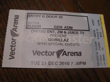 Gorillaz - live in Auckland