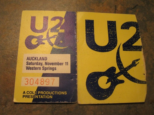 My ticket - U2 Auckland 1989