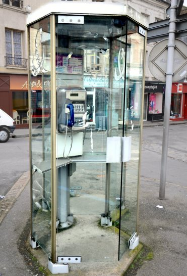 French phone booth - not as innocent as it looks