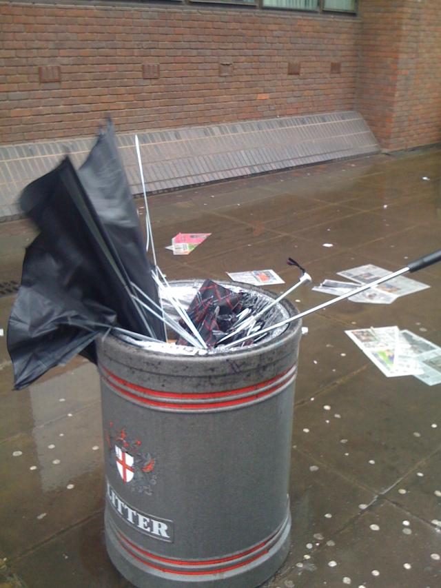 The life of a London umbrella