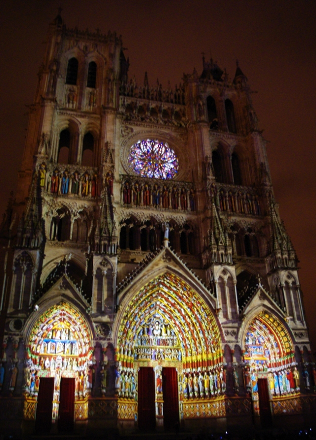 Amiens Cathedral by night