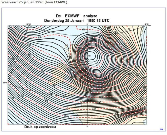 Burns Day Storm - 25 January 1990