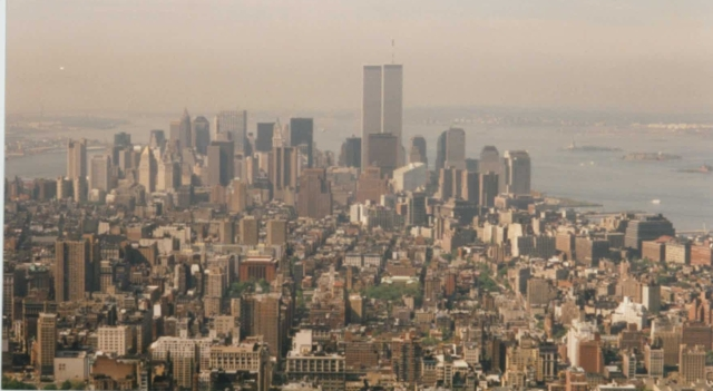 Manhattan from Empire State Building, May 1994