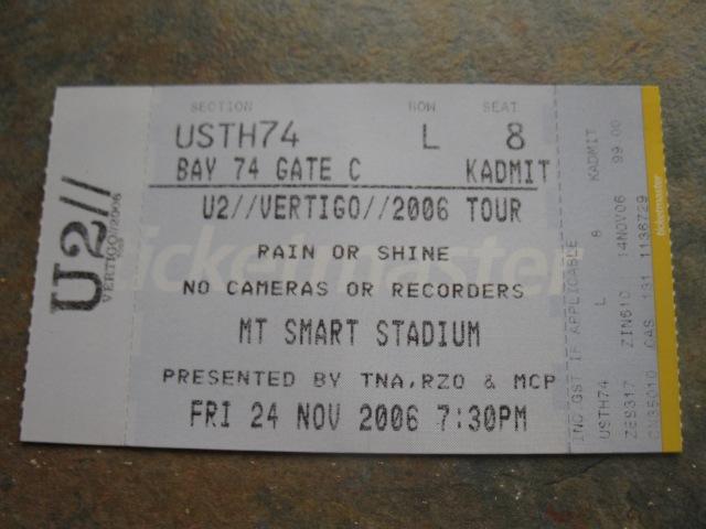U2 live in Auckland, November 24, 2006