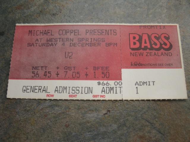 U2 live in Auckland, December 4, 1993