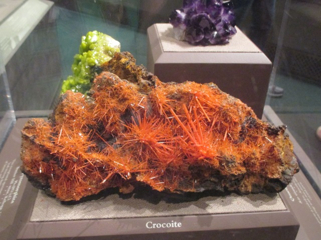 Crocoite crystals