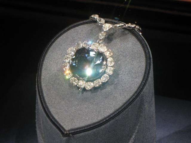 The Hope Diamond, valued at US$220 million!