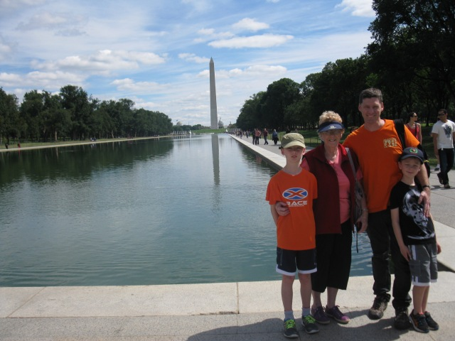 The team - towards Reflecting Pool and Washington Monument