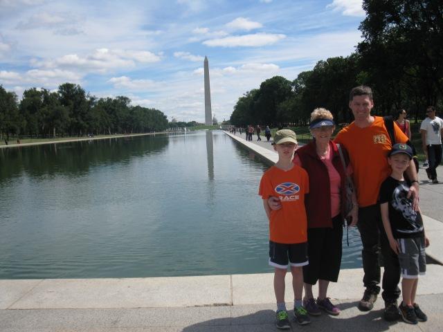 The team - towards Reflecting Pool and Washington Monument