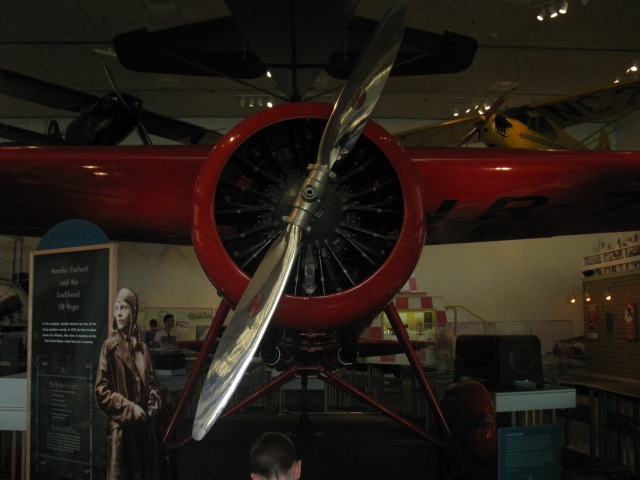Amelia Earhart display